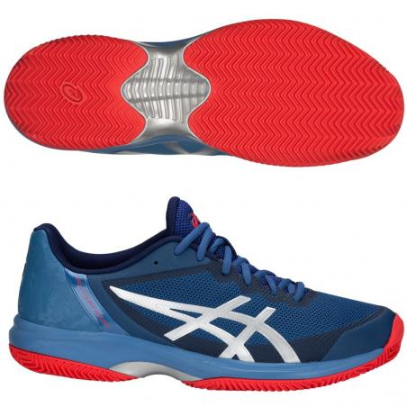 Asics Gel Court Speed FF Clay Azure Blue Print E801N-400