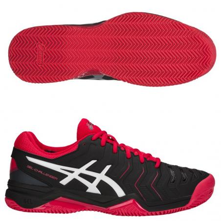 Asics Gel Challenger 11 Clay Black Silver E704Y-001