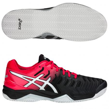 Asics Gel Resolution 7 Clay Black Silver E702Y-001