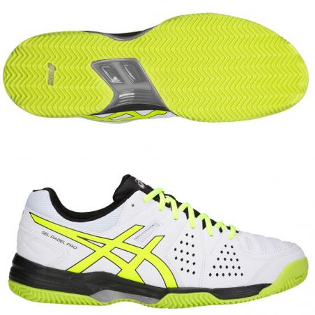 Asics Gel Padel PRO 3SG White Flash Yellow E511Y-100