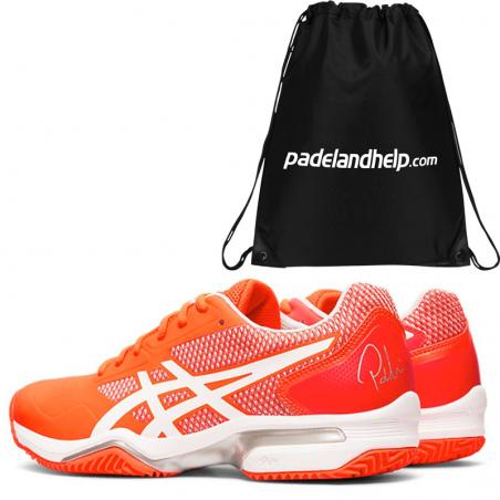 Asics Gel Lima Padel 2 Flash Coral White 1042A034-700