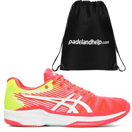 Asics Solution Speed FF Clay Laser Pink White 1042A003-702