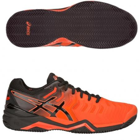 67f4b12c58 Asics Gel Resolution 7 Clay Cherry Tomato E702Y-801 - Padel And Help