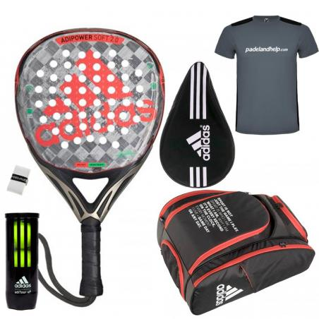 Pack Adidas Adipower Soft 2.0 + Paletero 2020