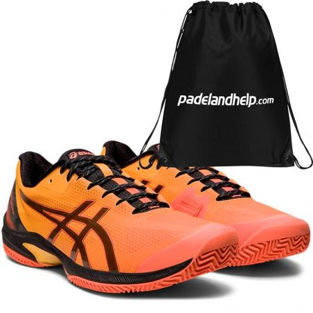 Asics Gel Court Speed FF Clay LE Flash Coral Black 1041A156-700