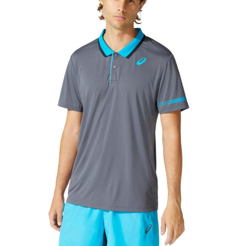 Asics Polo Padel Carrier Grey