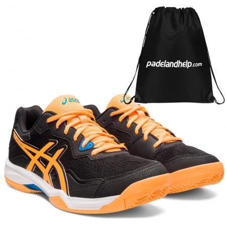 Asics Gel Padel Pro 4 Black Orange