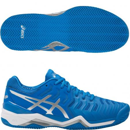 Asics Gel Resolution 7 Azules Plata E702Y-4393