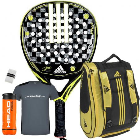 6dc05b75 Pack Adidas Adipower Attack 1.9 + Paletero 2019 - Padel And Help
