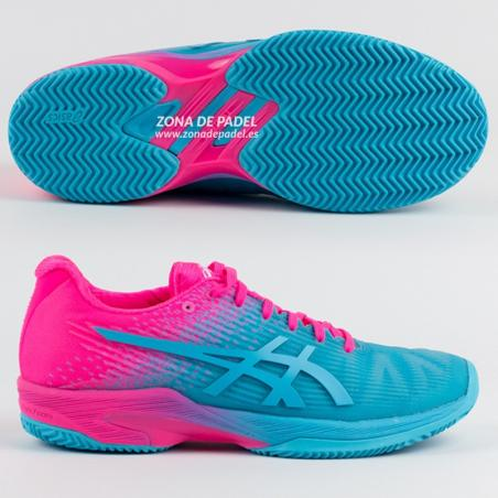 0d4e3a67 Asics Gel Solution Speed Woman Clay Aquarium Hot Pink 1042A025-400 ...