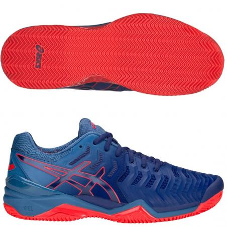 Asics Gel Resolution 7 Clay Azules Rojas E702Y-400