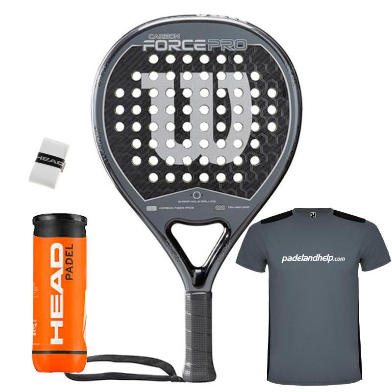 1579fdd7 Wilson Carbon Force Pro Black Grey 2019 - Padel And Help