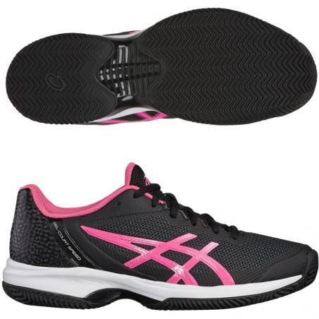 Asics Gel Court Speed Clay Black Hot Pink E851N-9020