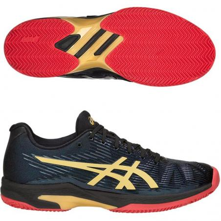 Asics Solution Speed LE Clay Black Rich Gold 1041A055-001